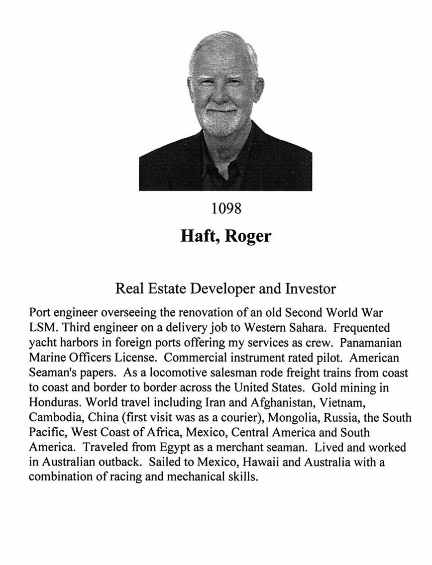 Roger Haft 1098